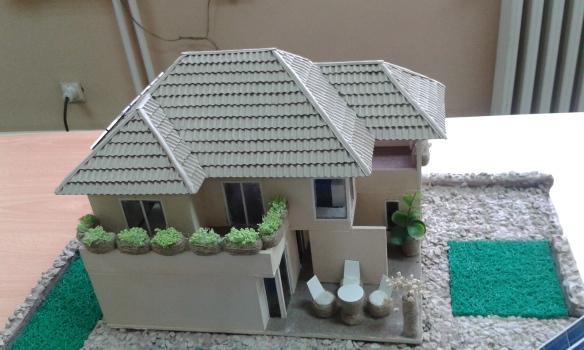 maketa solarne kuće detalj